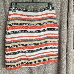 Loft Striped Woven Pencil Skirt Petite size 2P
